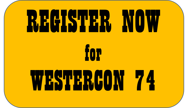 Button saying REGISTER NOW for WESTERCON 74